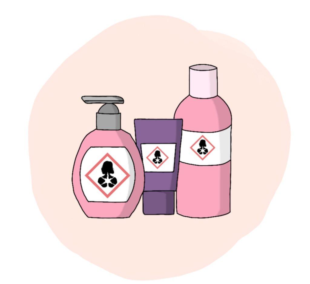Haarausfall Ursache: Hormonell wirksame Inhaltsstoffe in Kosmetika